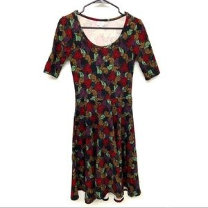Lularoe Nicole Paisley Fit and Flare Dress Small